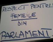 Respect femeilor în general cât și în Parlamentul României deputat Oana Bizgan
